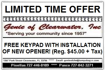 Free Keypad With Purchase Garage Door Opener Free Garage